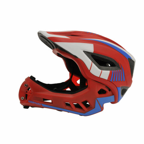Image of Kiddimoto IKON Kids Full Face Helmet Red