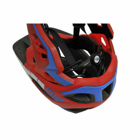 Image of Kiddimoto Full Face Helmet For Kids Red