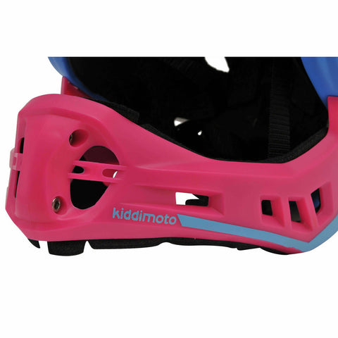 Image of Kiddimoto Kids Full Face Helmet Pink