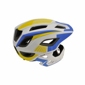 Kiddimoto IKON Full Face Helmet For Kids Blue/White