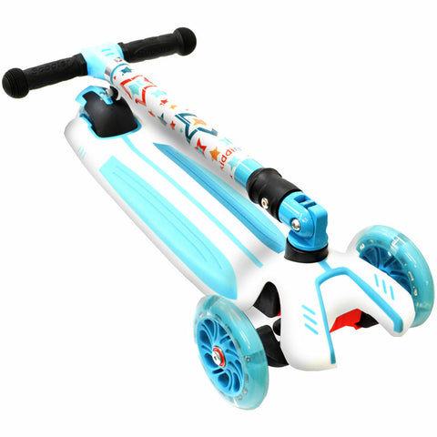 Image of Kiddimoto Stars Super u-Zoom Scooter Folded