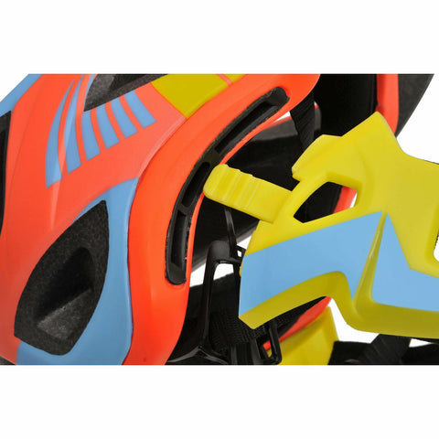 Image of Kiddimoto Orange/Yellow Full Face Helmet