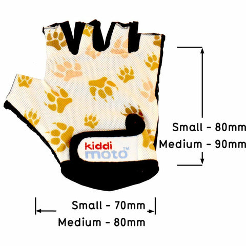 Kiddimoto Paws Printed Cycling Gloves Front