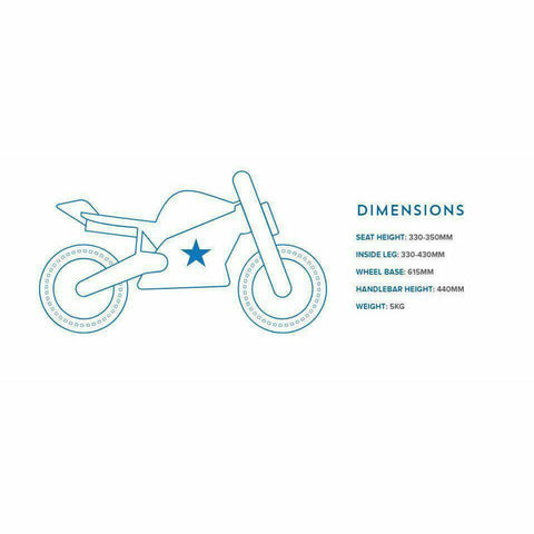 Image of Kiddimoto Evel Official Balance Bike