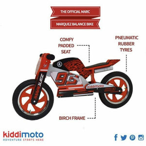 Marc Marquez Replica Wooden Balance Bike