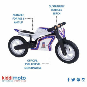 Evel Knievel Balance Bike - OFFICIAL signature and colours