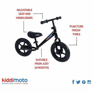 Kiddimoto Red Super Junior Metal Balance Bike specification