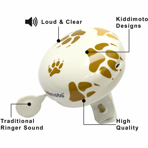 Image of Kiddimoto Paws Printed Bicycle Bell Specifications