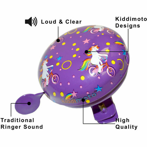 Image of Kiddimoto Unicorn Bicycle Bell Specification
