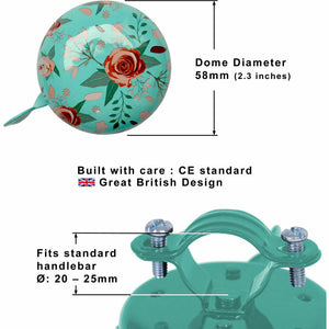 Floral Bicycle Bell Dimensions