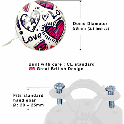Image of Kiddimoto Love Bicycle Bell