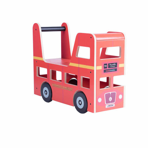 Kiddimoto Wooden Ride On London Bus