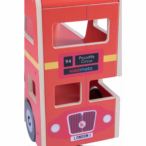 Image of Kiddimoto Wooden London Bus Ride On