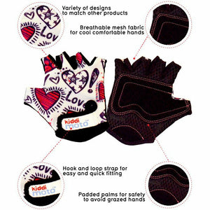 Kiddimoto Love Cycling Gloves Description