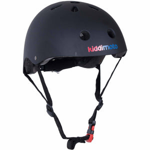 Kiddimoto Plain Black Kids Helmet
