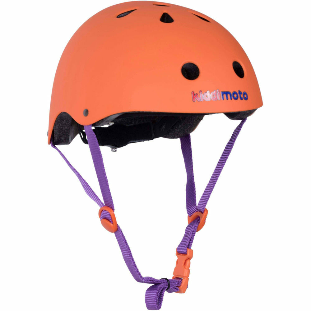 Kiddimoto Matte Orange Bike Helmet