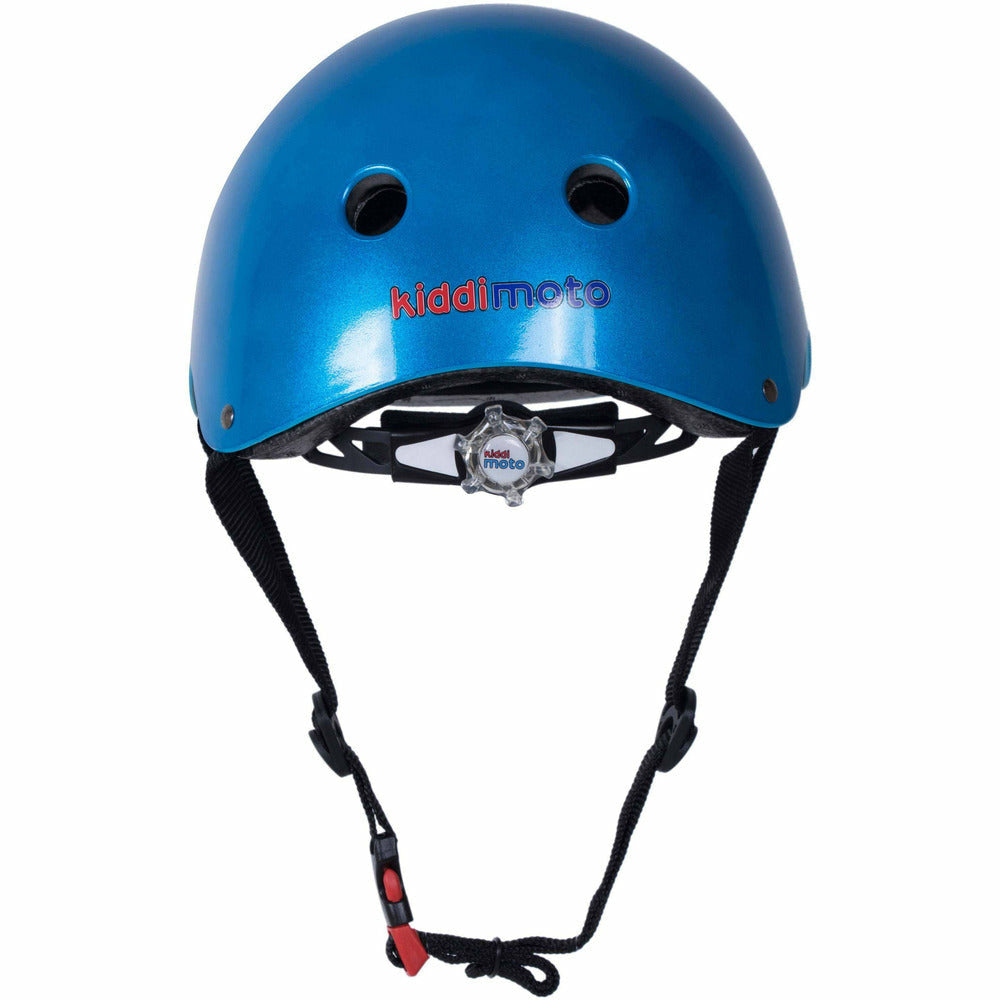 Kiddimoto Metallic Blue Helmet For Kids