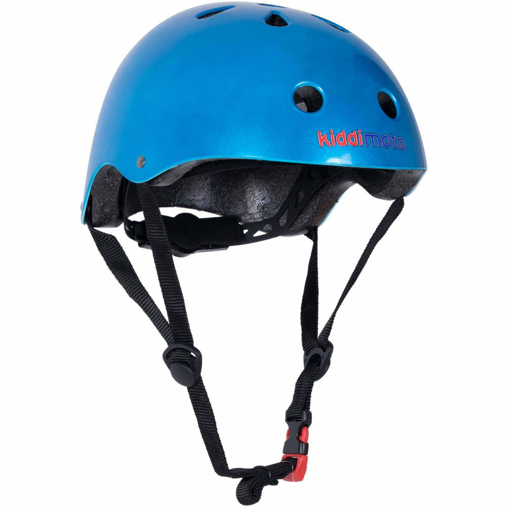 Kiddimoto Metallic Blue Helmet