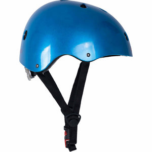 Kiddimoto Metallic Blue BMX Style Kids Helmet