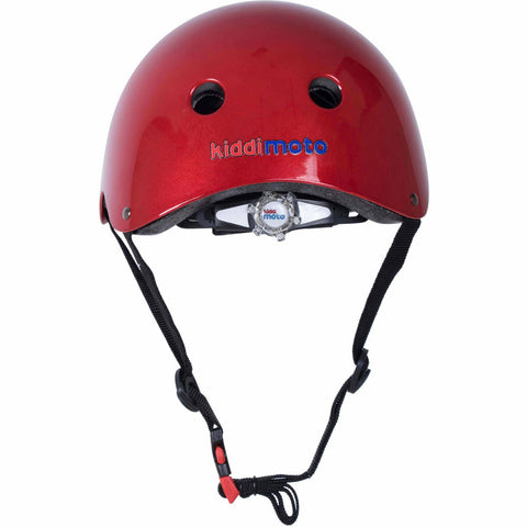 Image of Kiddimoto Metallic Red Bike Helmet