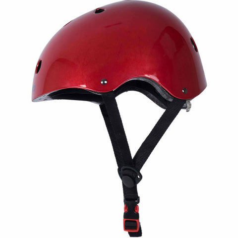 Image of Metallic Red Kids Helmet From Kiddimoto