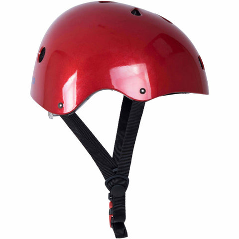 Image of Kiddimoto Metallic Red Kids Bike Helmet