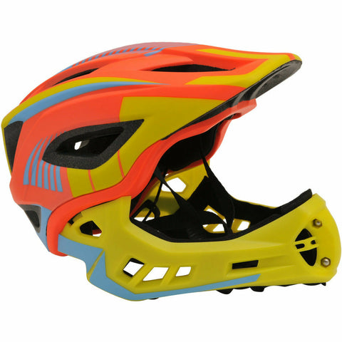 Kiddimoto IKON Full Face Helmet | Orange/Yellow
