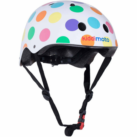Image of Kiddimoto Pastel Dotty Kids Helmet