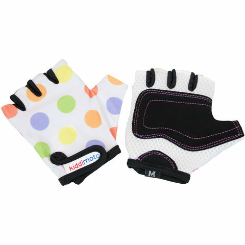 Image of Kiddimoto Kids Bike Gloves Pastel Dotty