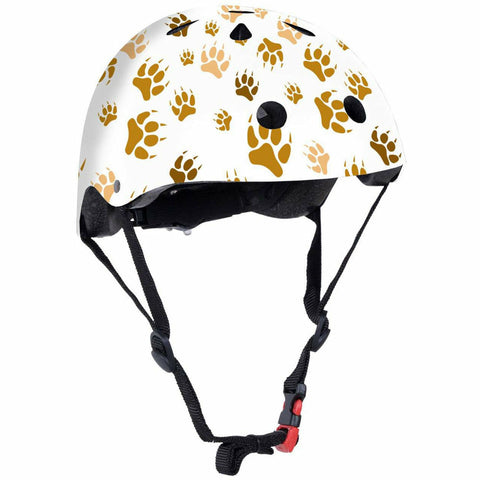Image of paw print design kids bicycle cycling helmet