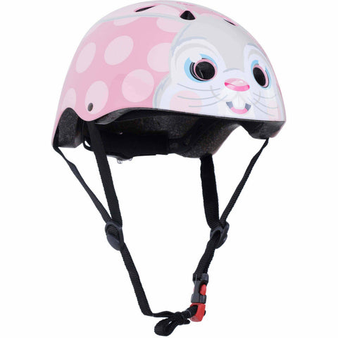 Image of Kiddimoto Pink Bunny Bike Helmet