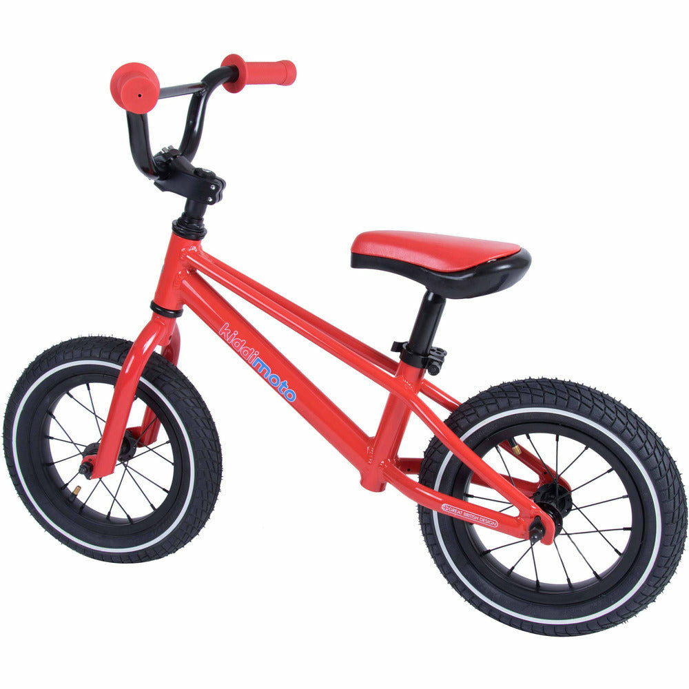 Kiddimoto Red BMX Balance Bike | Back