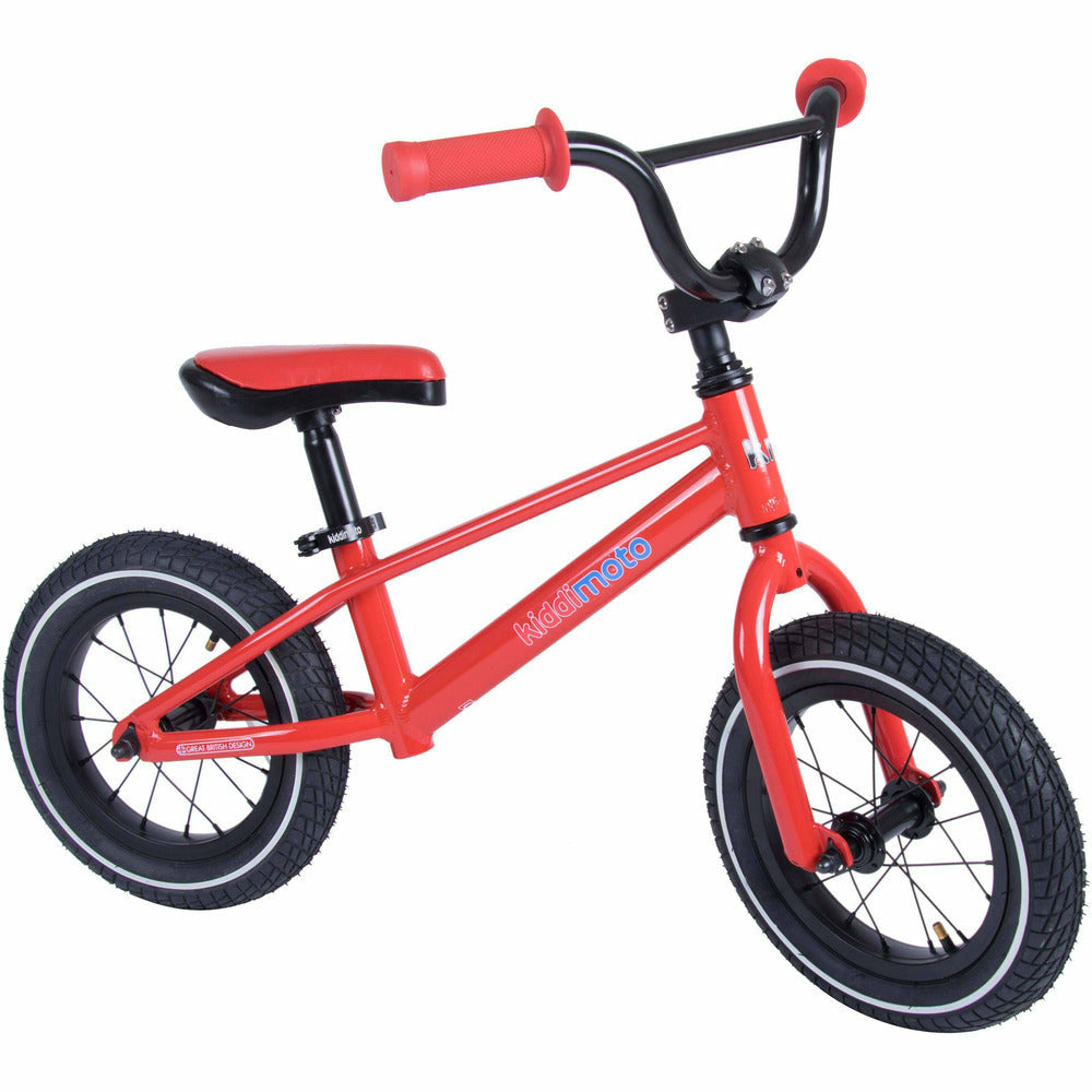 Kiddimoto Red BMX Balance Bike | Front