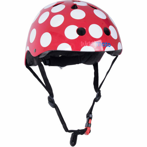 Image of Kiddimoto Red Dotty Bike Helmet