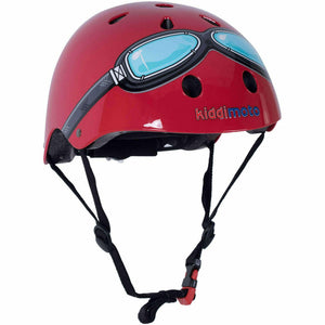 Kiddimoto Kids Red Goggle Helmet