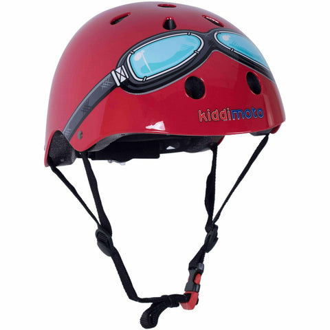 Image of Kiddimoto Kids Red Goggle Helmet