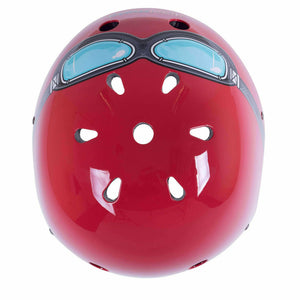 Kiddimoto Red Goggle Helmet For Kids