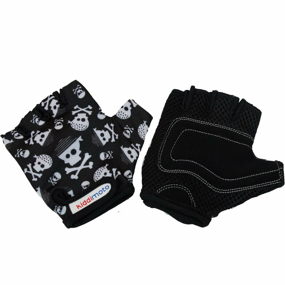 Kiddimoto Kids Protective Bike Gloves Skull