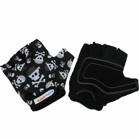 Image of Kiddimoto Kids Protective Bike Gloves Skull
