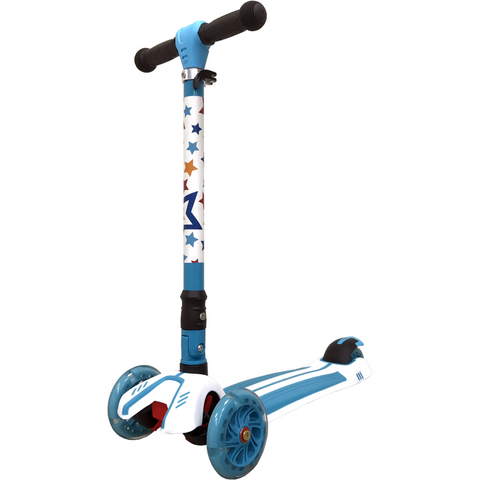 Kiddimoto Stars Super u-Zoom Scooter triple