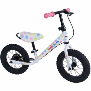 Kiddimoto Pastel Dotty Super Junior Max Metal Balance Bike