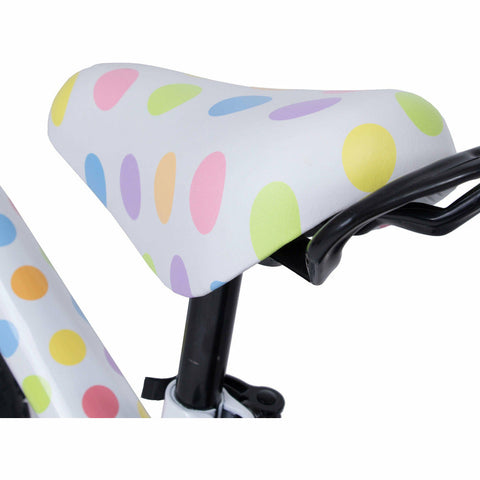 Kiddimoto Pastel Dotty Super Junior Max Metal Balance Bike Seat