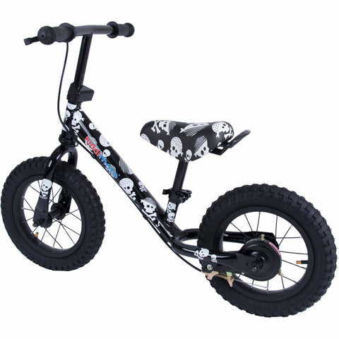 Kiddimoto Skullz Super Junior Max Metal Balance Bike Back