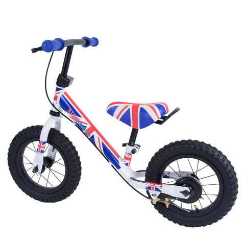 Kiddimoto Union Jack Super Junior Max Metal Balance Bike Back