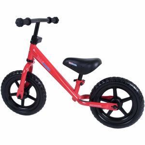 Kiddimoto Red Super Junior Metal Balance Bike Back
