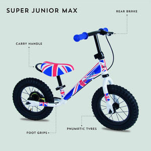Union Jack Super Junior Max Metal Balance Bike