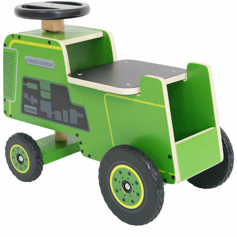 Image of Kiddimoto Green Tractor Ride On