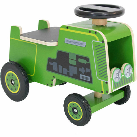 Image of Kiddimoto Wooden Tractor Ride On Toy