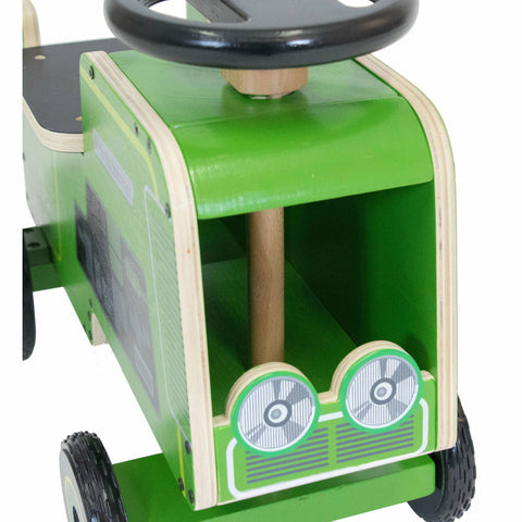 Image of Wooden Tractor Ride On From Kiddimoto