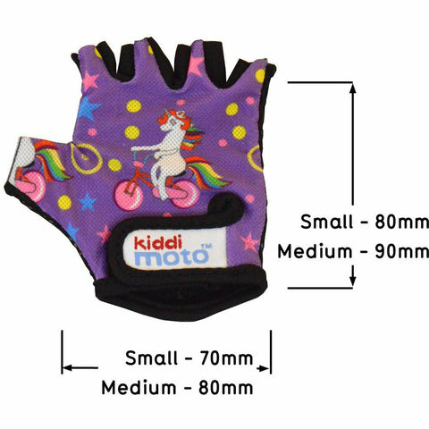 Kiddimoto Unicorn Cycling Gloves Specification